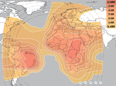 EUMETCast Africa footprint