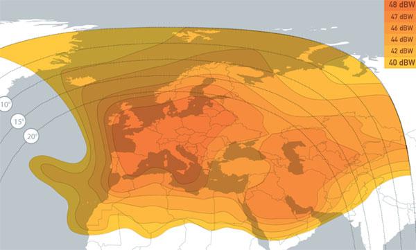 EUMETCast Europe footprint