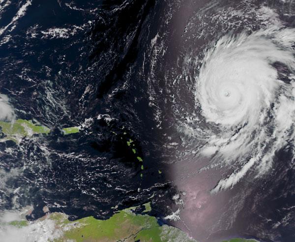 Hurricane Igor in the Caribbean, September 14, 2010