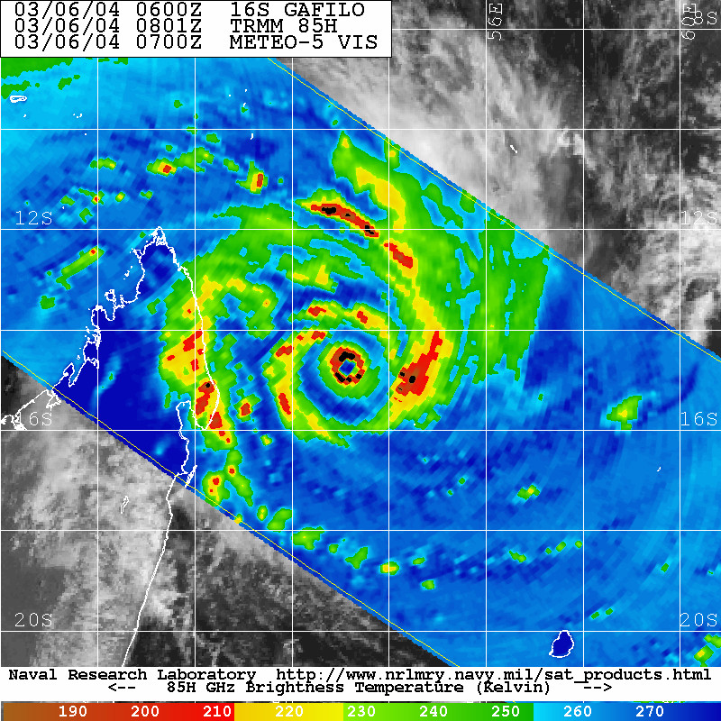 TMI on TRMM, 06 March 2004, 08:01 UTC