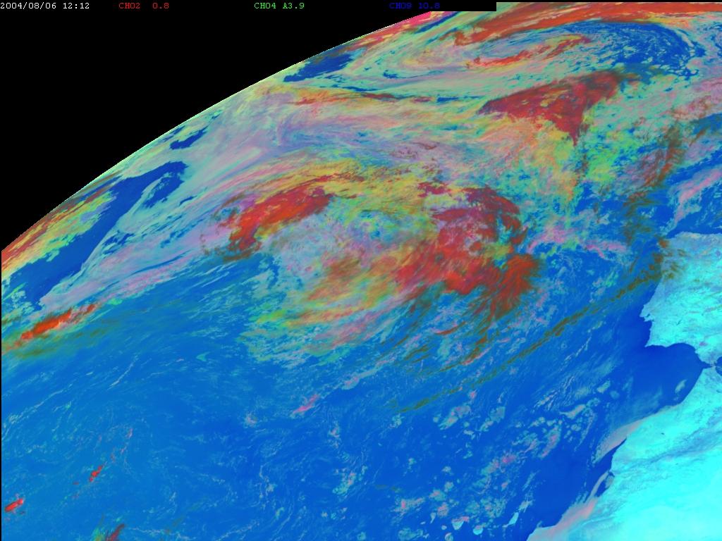Met-8, 06 August 2004, 12:00 UTC