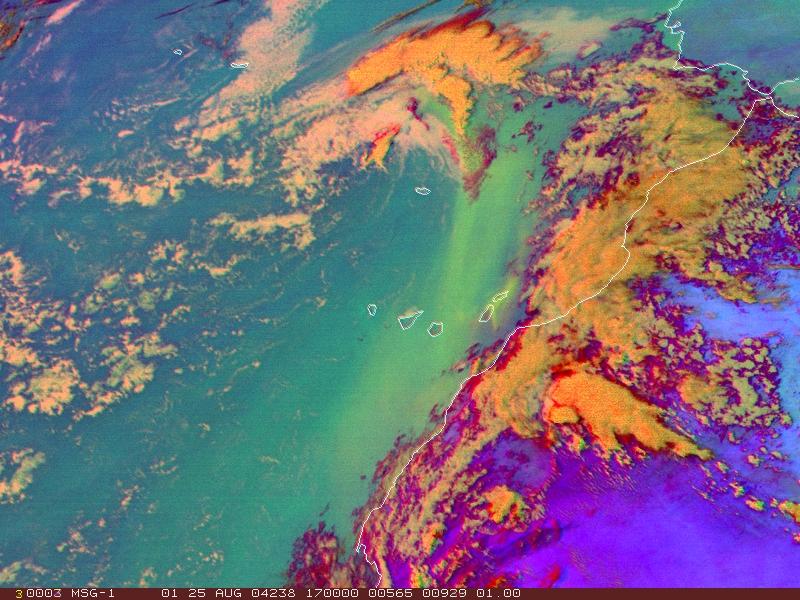 Met-8, 25 August 2004, 17:00 UTC