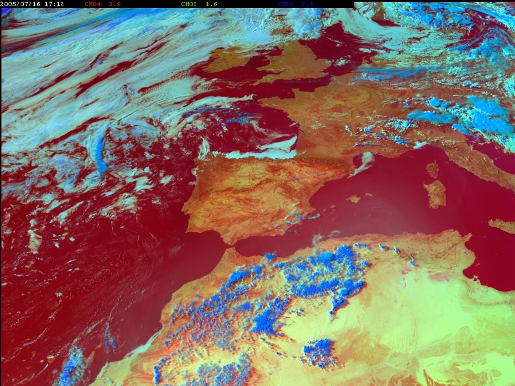 Met-8, 16 July 2005, 17:00 UTC