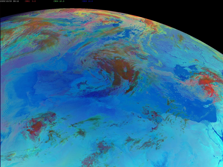 Met-8, 03 October 2005, 09:00 UTC