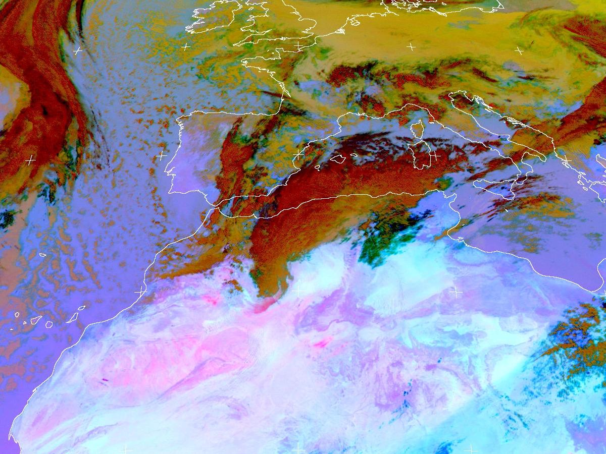 Met-8, 22 February 2006, 12:00 UTC