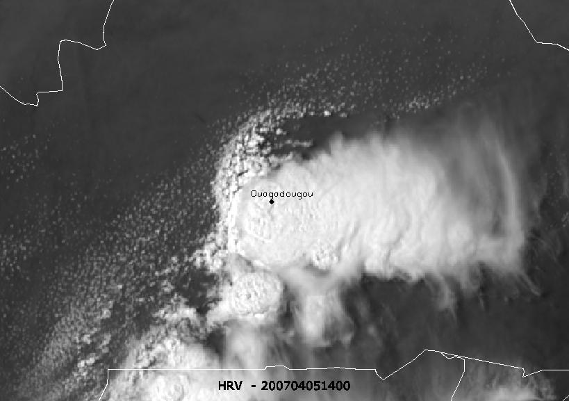 Severe thunderstorm within polluted air over Ouagadougou, Burkina Faso