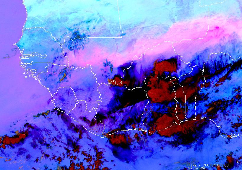 Met-8, 05 April 2007, 14:00 UTC