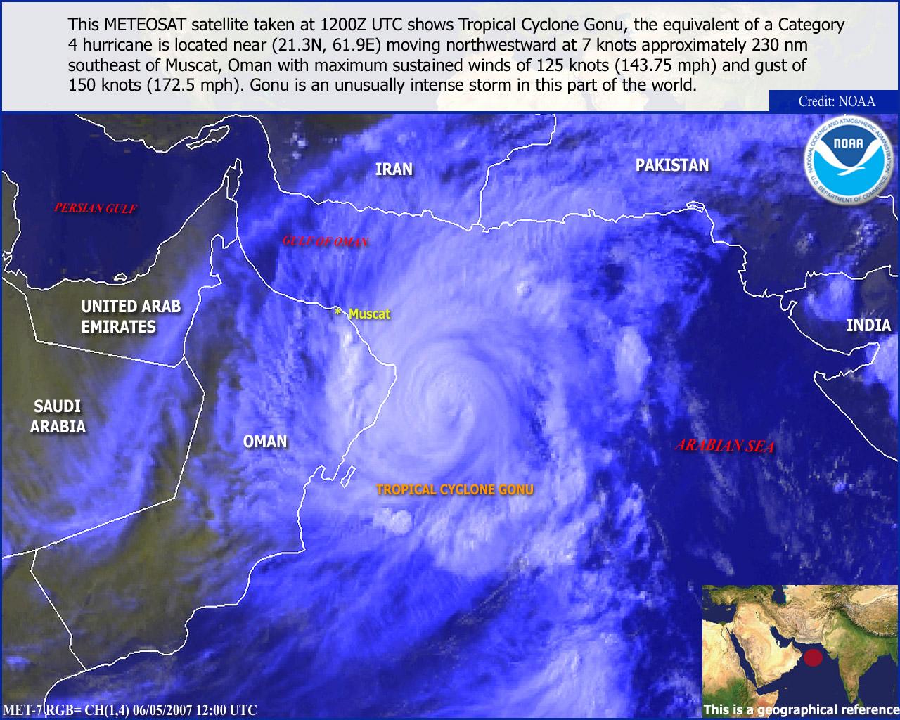 Met-7, RGB VIS-IR, 05 June 2007, 12:00 UTC