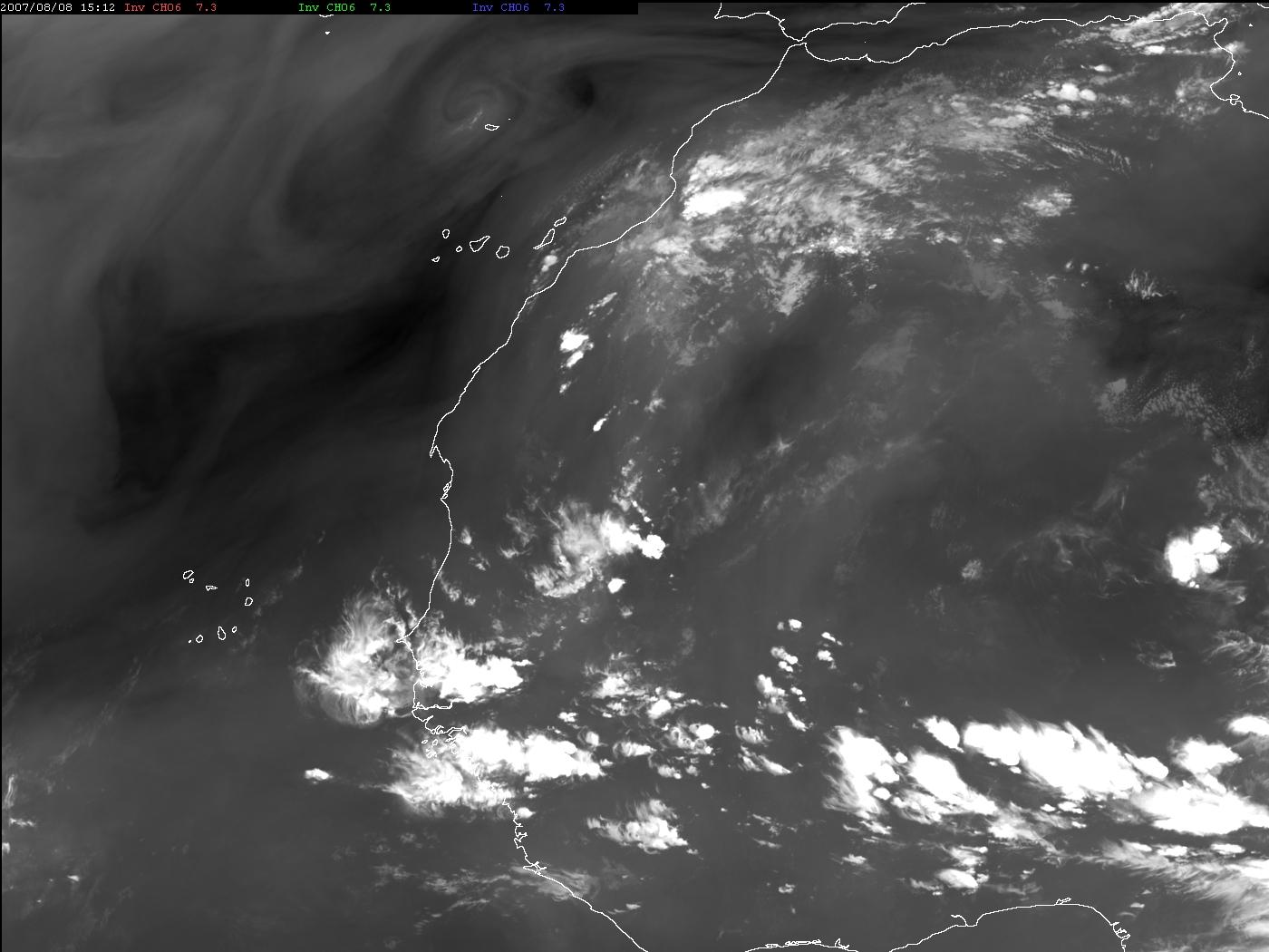 Met-9, 08 August 2007, 15:00 UTC