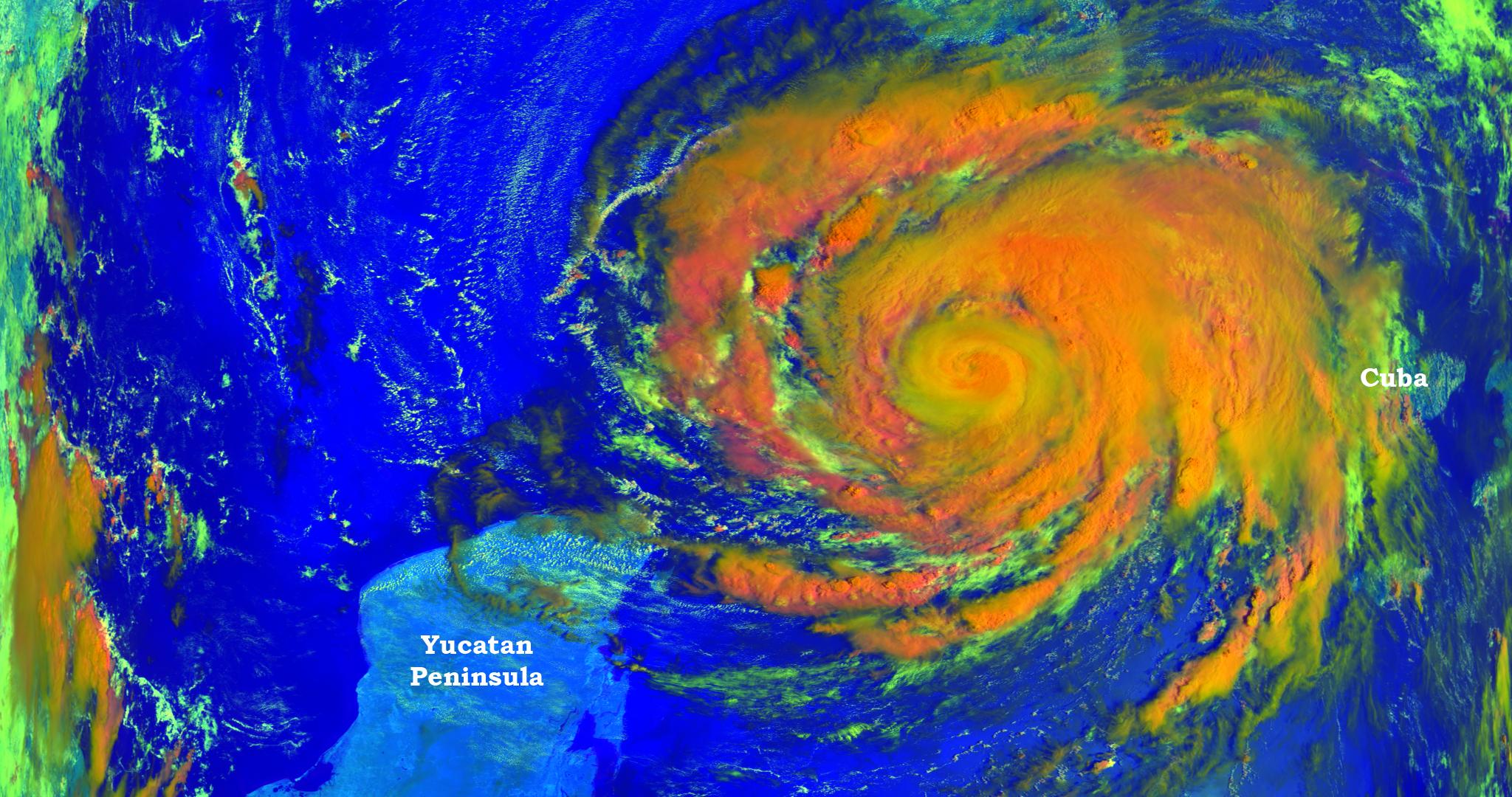 Hurricane Ike follows follows Gustav and Hanna