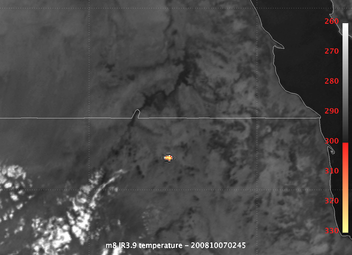 Asteroid 2008 TC3 impacts over northern Sudan