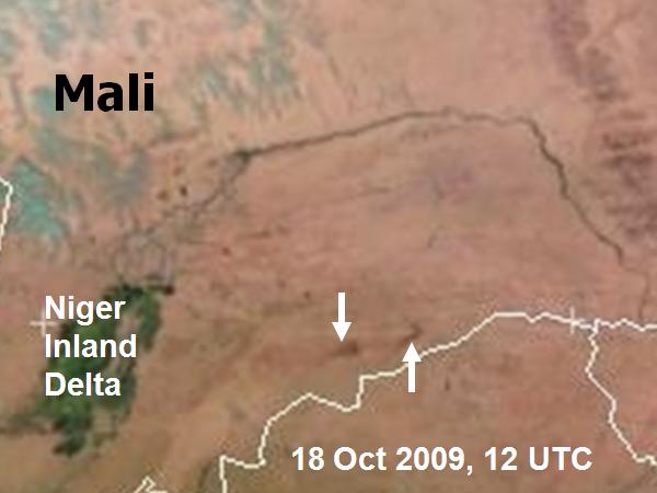 Met-9, 18 October 2009, 12:00 UTC