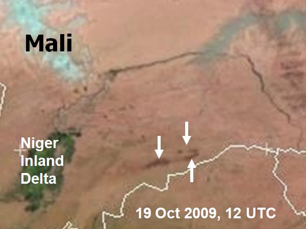 Met-9, 19 October 2009, 12:00 UTC