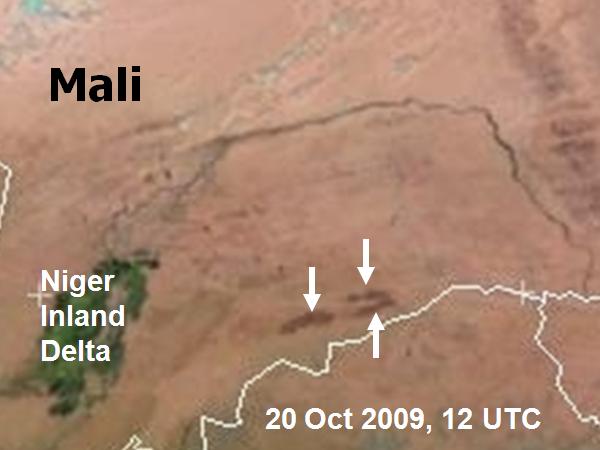Met-9, 20 October 2009, 12:00 UTC