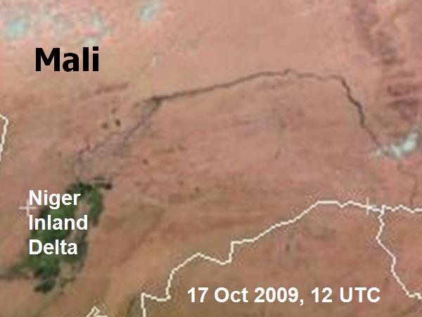 Met-9, 17 October 2009, 12:00 UTC