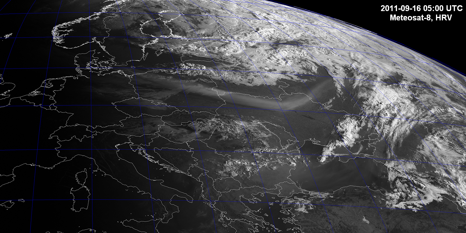 Smoke from Minnesota fires over Europe