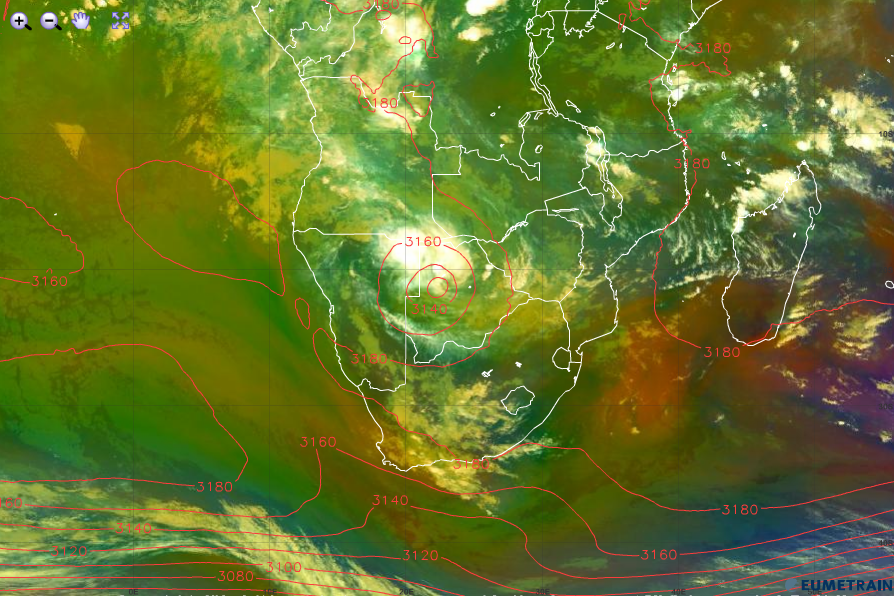 Tropical low over Botswana