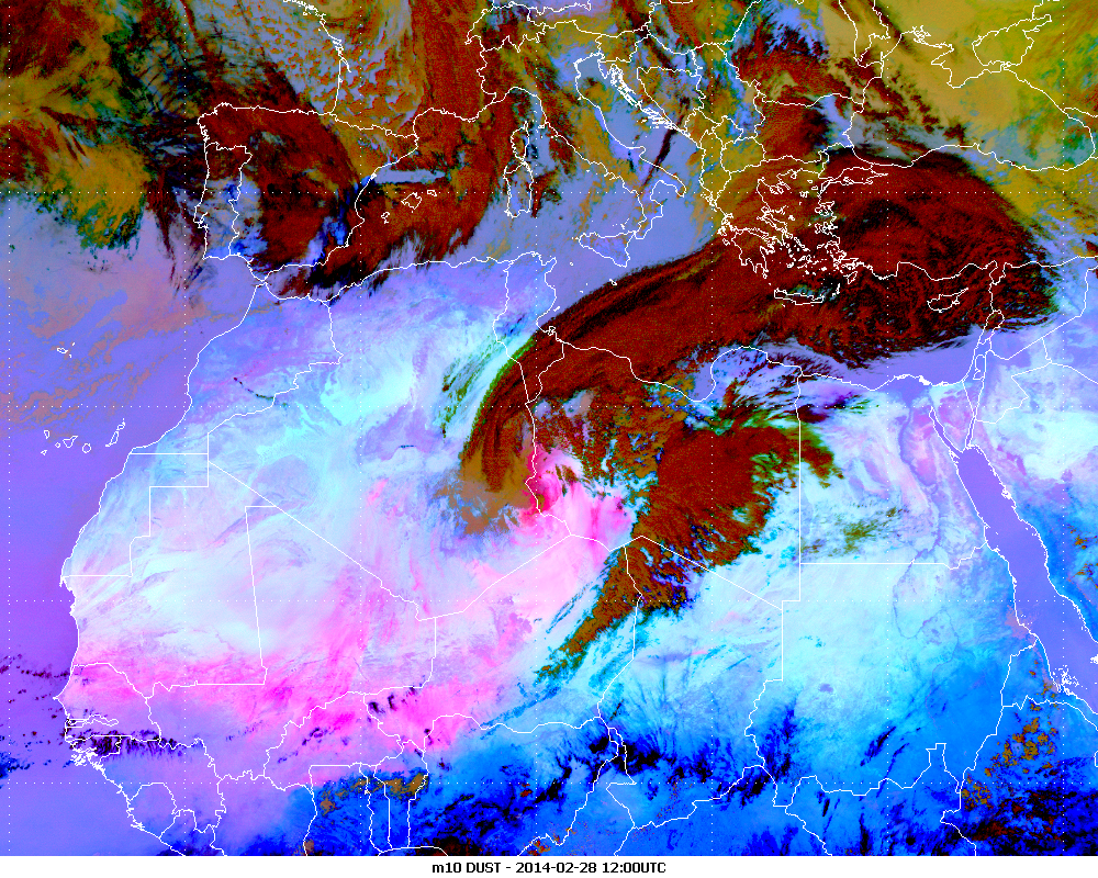 Met-10, 28 February 2014, 12:00 UTC