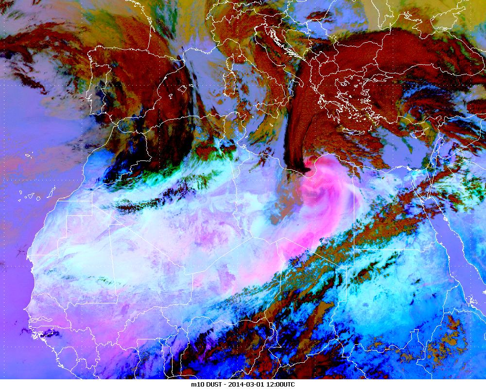 Met-10, 01 March 2014, 12:00 UTC