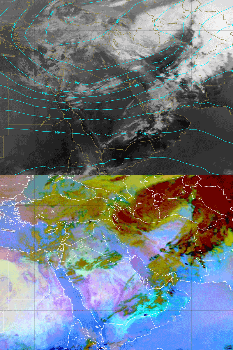 Trough of low pressure moves over Oman