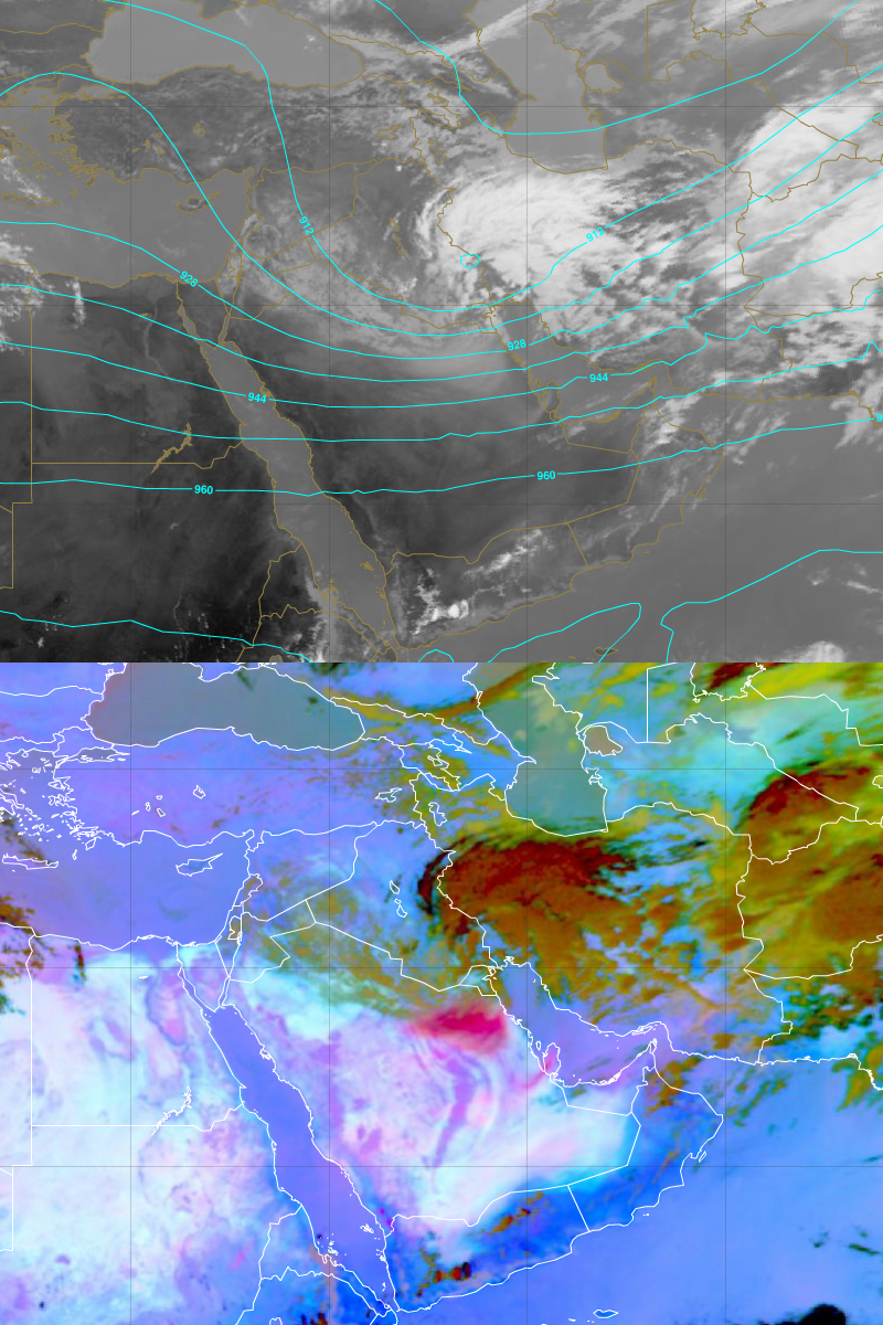 Meteosat-10 IR10.8 and Dust images