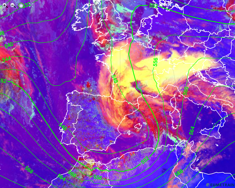 High levels of air pollution in parts of western Europe