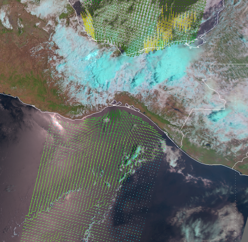ASCAT shows Tehuano wind event