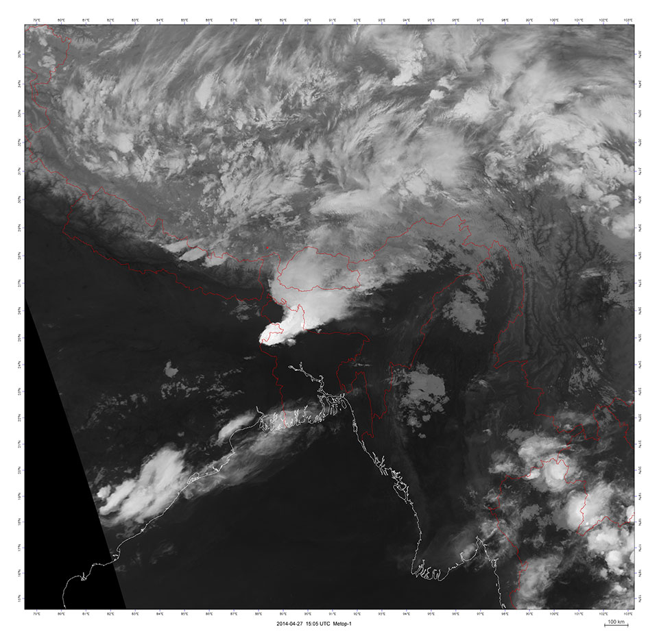 Metop-A, 27 April 2014, 15:05 UTC