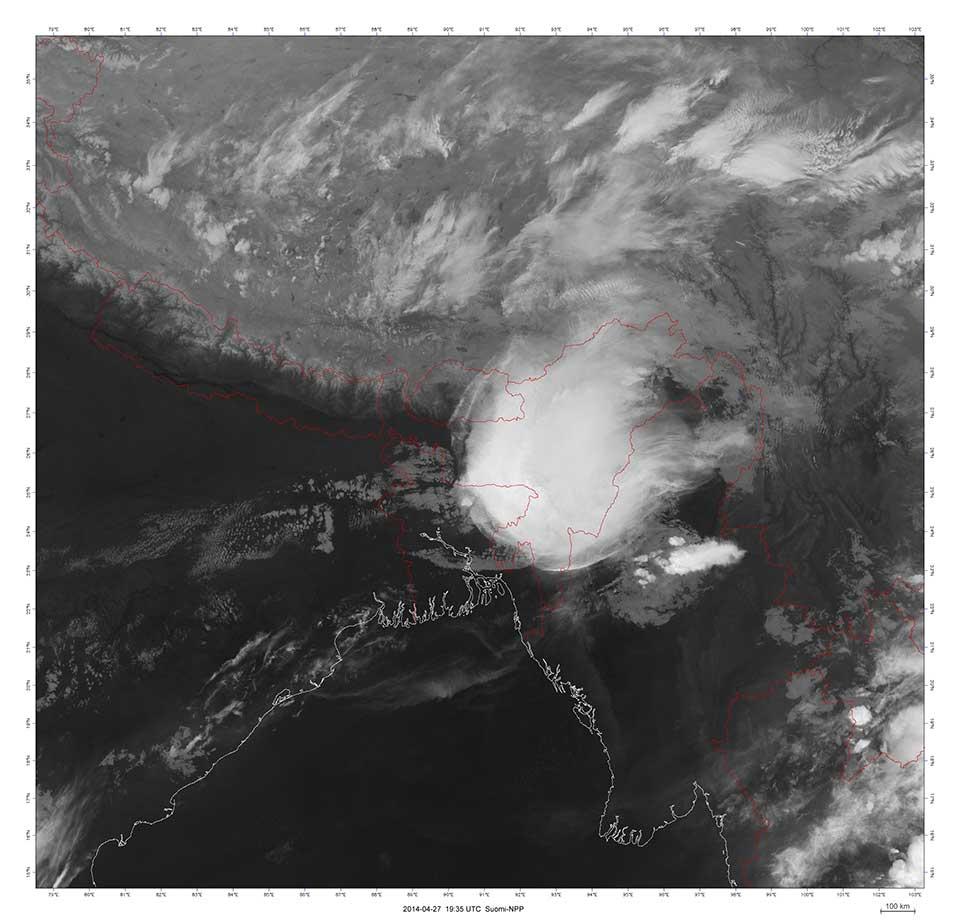 Suomi-NPP VIIRS M16, 27 April 19:35 UTC.