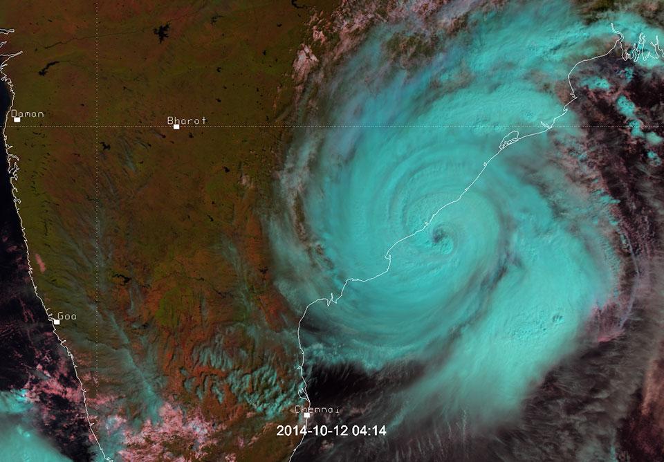 Metop-A, Natural Colour RGB, 12 October 2014, 04:14 UTC
