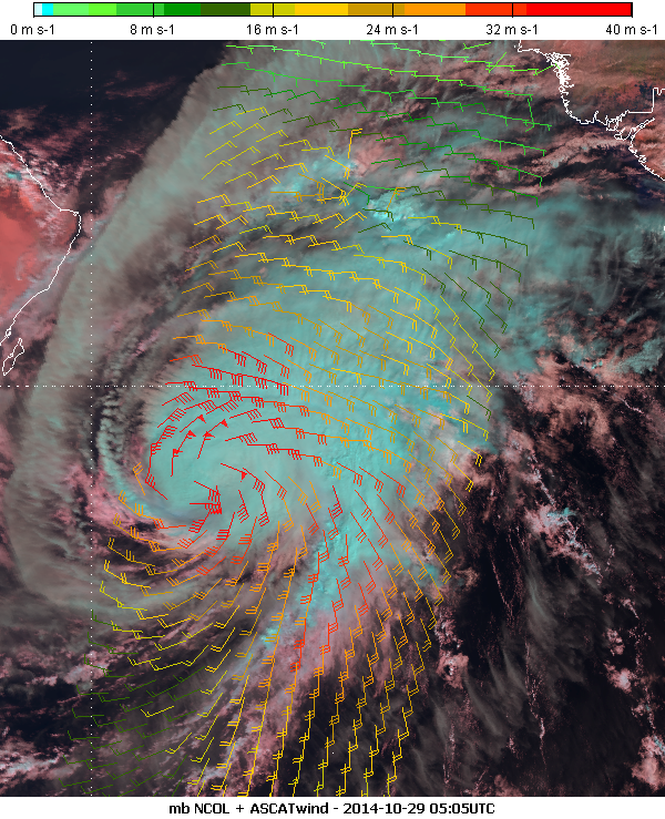 Metop-B, 29 October 2014 05:05 UTC