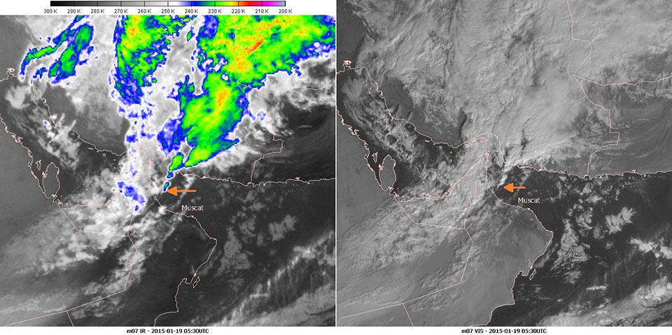 Meteosat-10, Airmass RGB, 19 January 12:00 UTC (Credit: EUMeTrain)