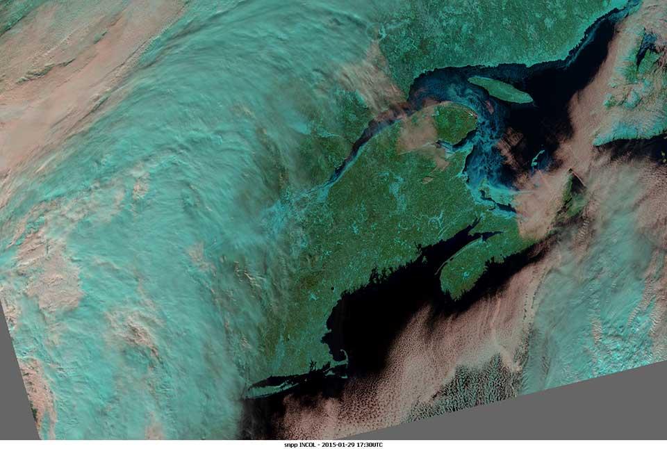 Suomi-NPP, 29 January 2015, 17:30 UTC
