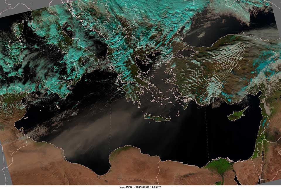 Suomi-NPP, 01 February 2015, 11:25 UTC