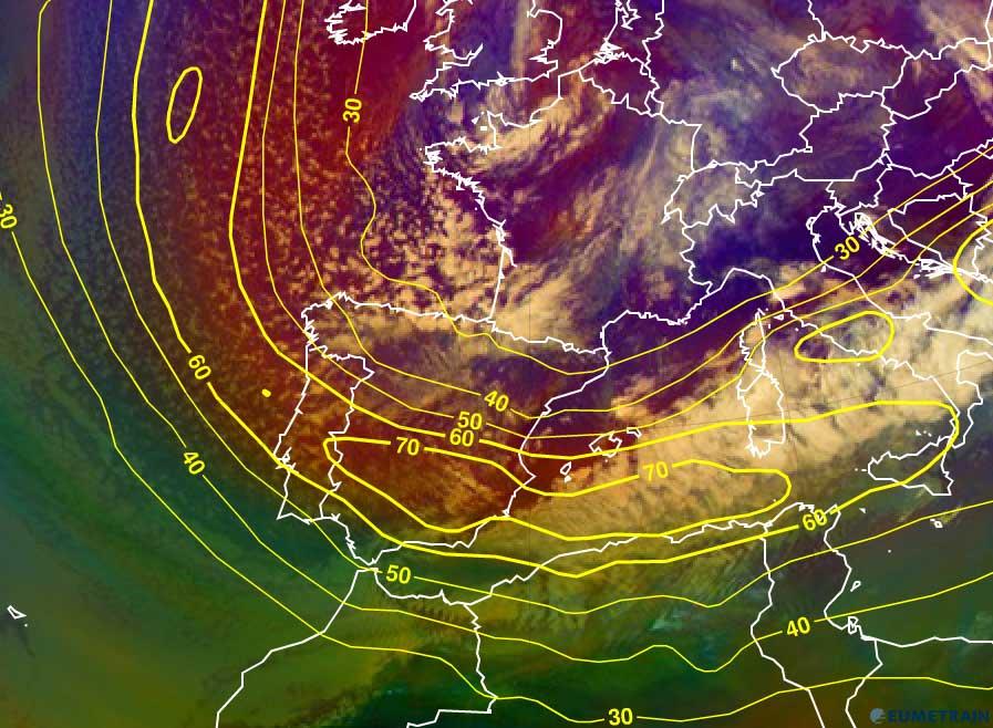 Meteosat-10 Airmass RGB, 31 January 12:00 UTC