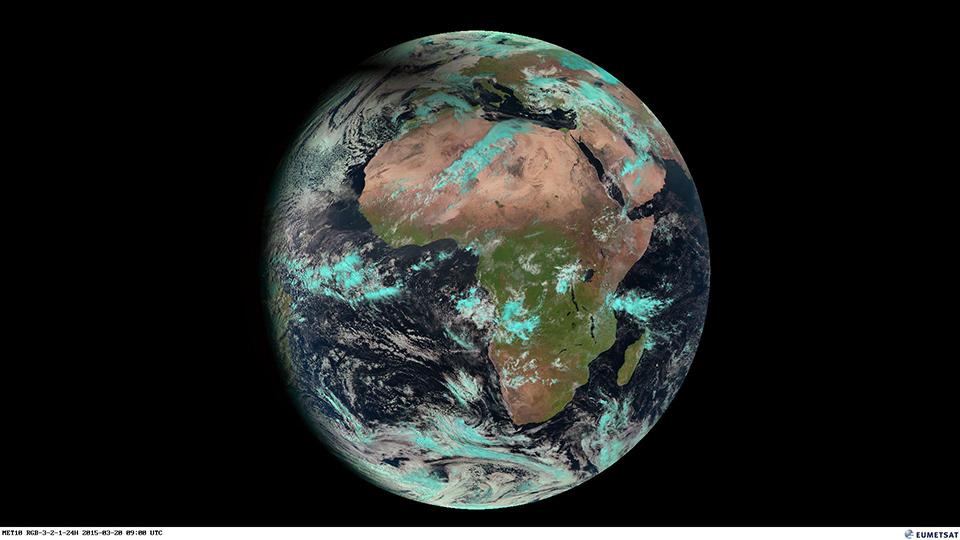Meteosat-10 Natural RGB Full disk, 20 March 09:00 UTC