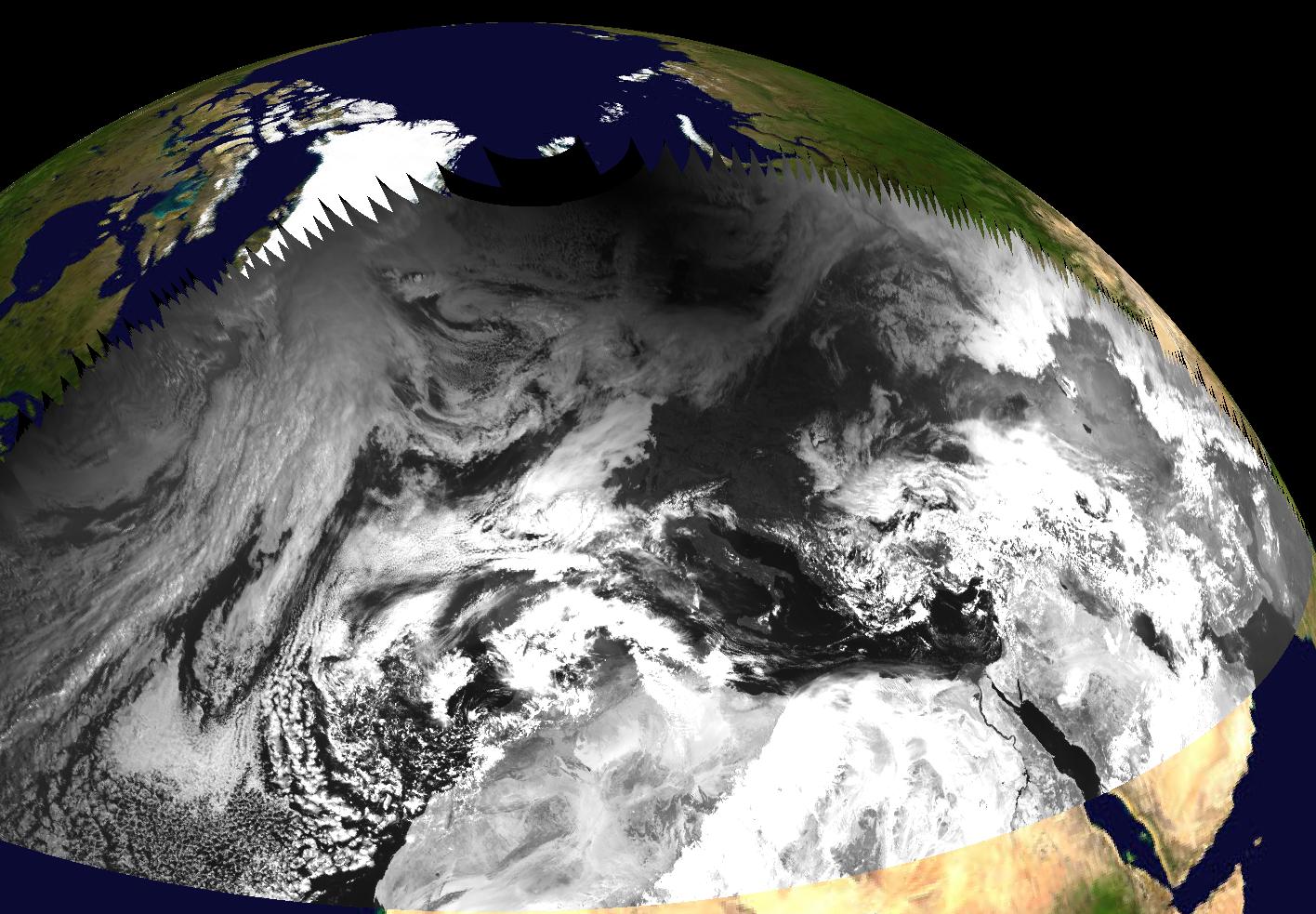 Figure 4: Meteosat-9 Visible 0.6 µm Rapid Scan