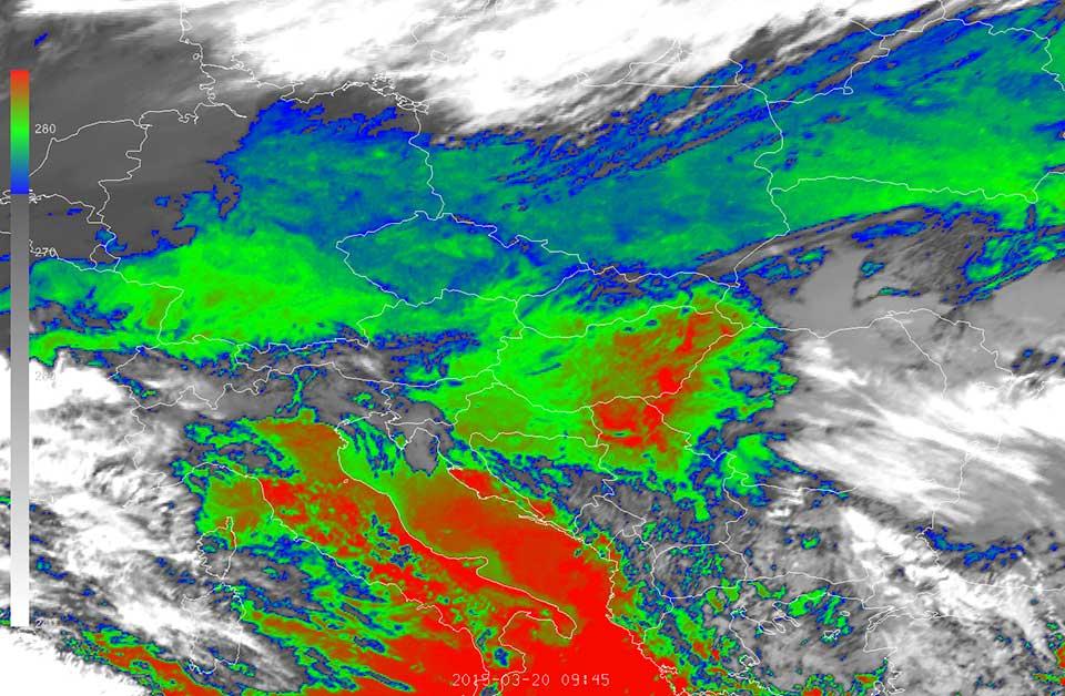 Meteosat-10 infrared animation, 20 March 07:00–10:30 UTC