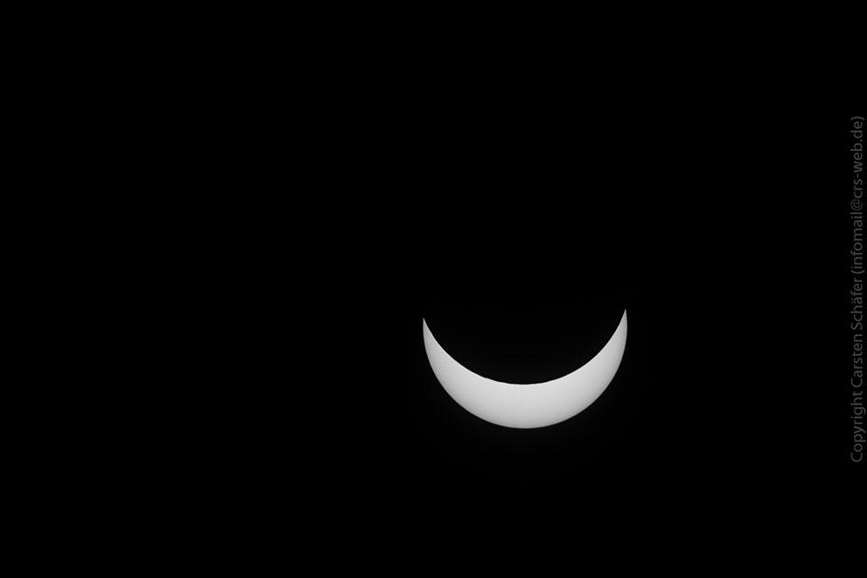 Eclipse maximum in Darmstadt. Credit: Carsten Schaefer