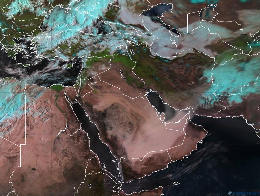 Meteosat-10 Natural Colour RGB, 2 April 06:00 UTC