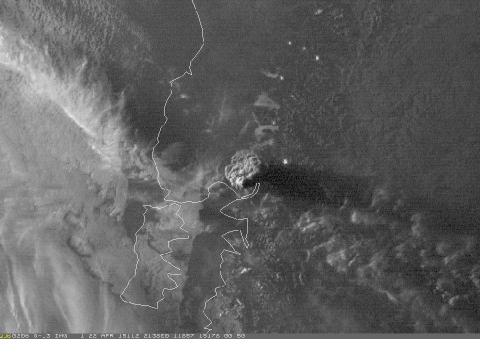 GOES-13, 22 April 21:38 UTC