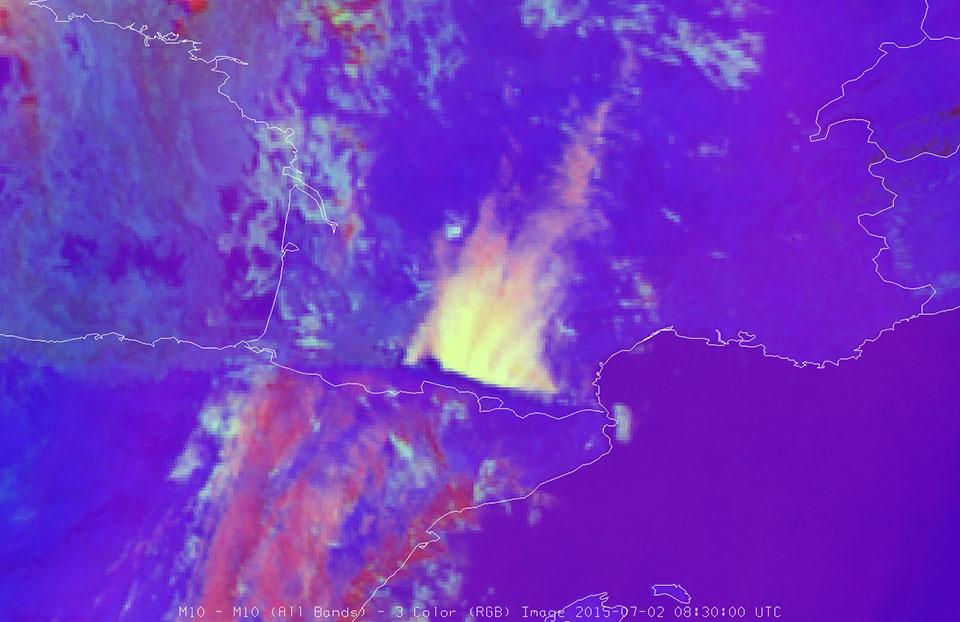 Meteosat-10 Severe Convection RGB, 2 July 08:30 UTC