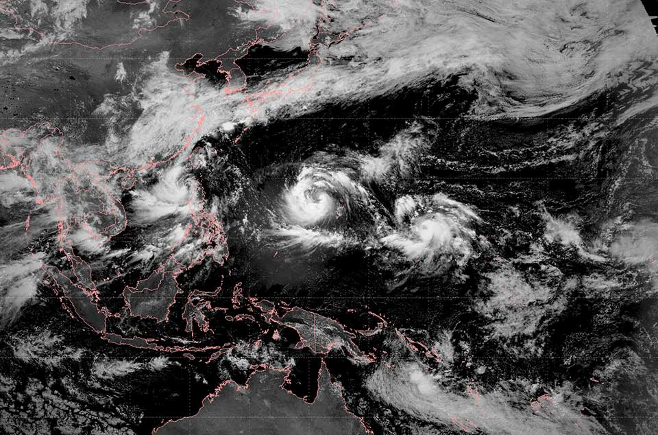 Tropical storms over the Western Pacific