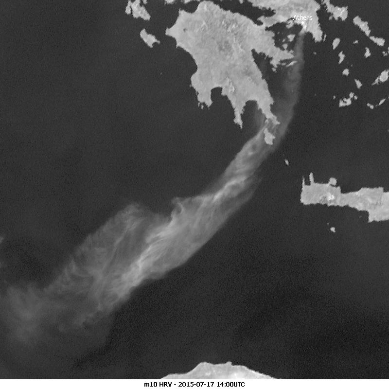 Meteosat-10 HRV, 17 July 14:00 UTC