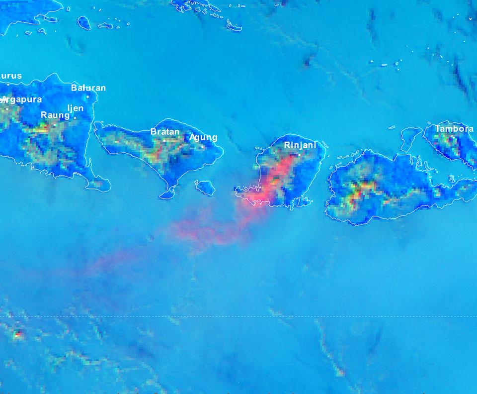 Himawari-8 Volcanic Ash RGB, 5 November 06:00 UTC
