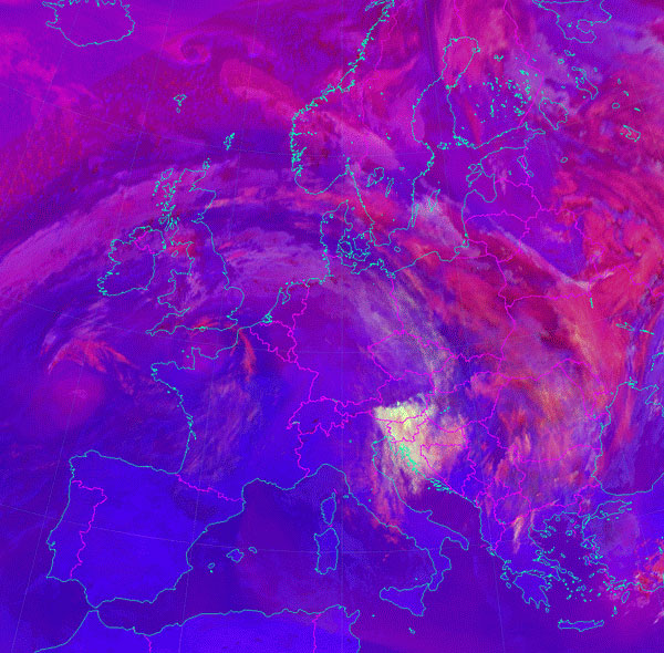 Meteosat-10 Convection RGB, 10 November 09:00 UTC