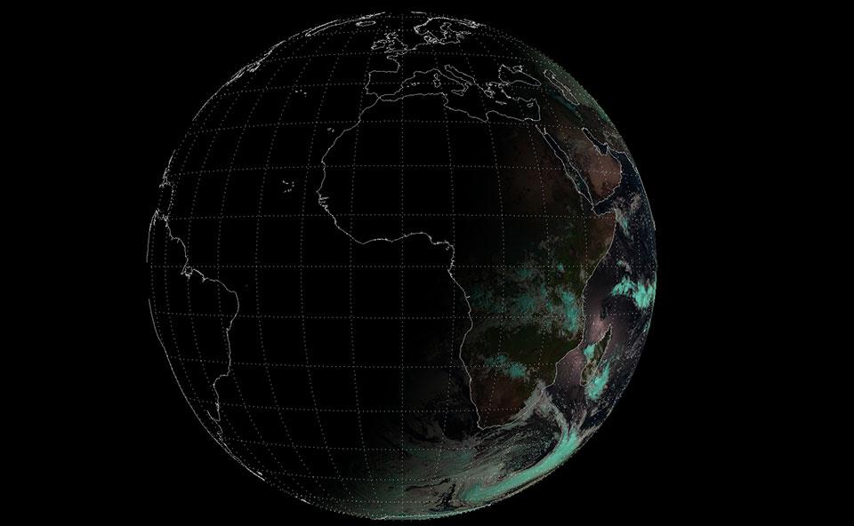 Meteosat-10 Natural Colour RGB, 22 Dec 05:00 UTC