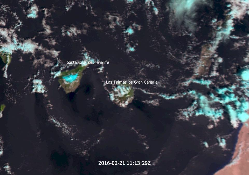 Metop-A AVHRR Natural Colour RGB, 21 Feb 11:13 UTC
