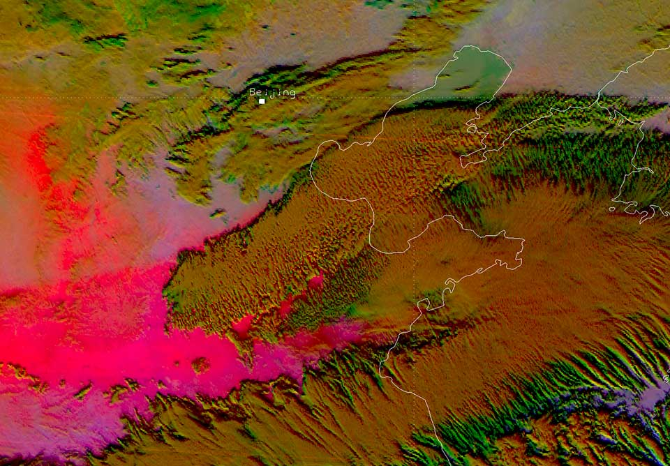 Himawari-8 Dust RGB, 19 Feb 01:00 UTC.