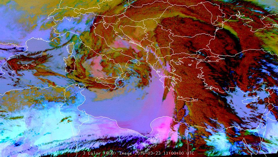 Met-10, 23 March 2016, 11:00 UTC